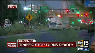 Suspect dies after being shot by Phoenix Police downtown, officer hurt in incident - Video