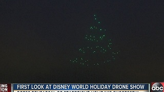 First look at Disney World holiday drone show - Video