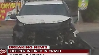LVMPD vehicle involved in crash near Pecos, Russell - Video