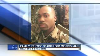 Family and friends rally together to search for missing MKE man - Video