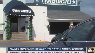 Owner increase reward to find armed robbers of Hanover restaurant