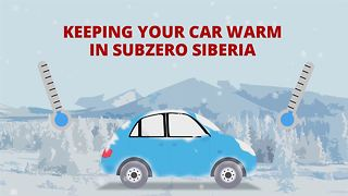 How to start your car in sub zero Siberia - Video