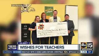 Desert Hills High School teacher surprised with check to buy new tech - Video