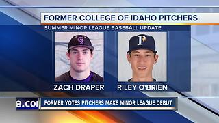 College of Idaho Minor League Baseball Update - Video