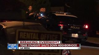 Tense standoff shuts down La Mesa neighborhood - Video