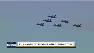 Blue Angels to fly over metro Detroit Tuesday