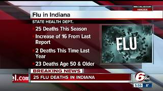 25 flu-related deaths in Indiana so far this season - Video