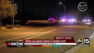 Teen girl killed in North Phoenix crash
