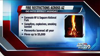 New fire restrictions in place Monday - Video