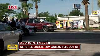Deputies locate SUV woman fell out of in Tampa intersection - Video