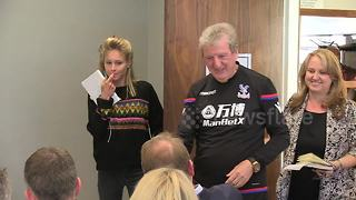 Roy's return! Hodgson greets press before news conference - Video
