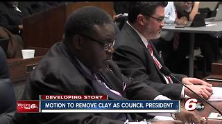 Indianapolis City-County Council will vote at the Feb. 19 meeting whether to remove Stephen Clay as president - Video