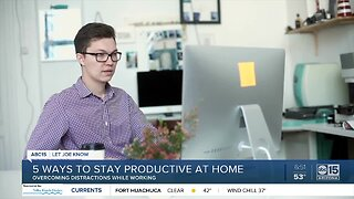 5 ways to stay productive at home