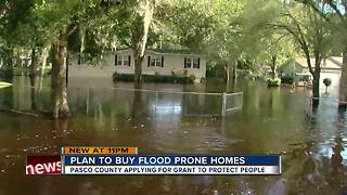 Pasco County applying for disaster relief grant to buy flooded homes from residents - Video