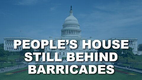 People's House Behind Barricades