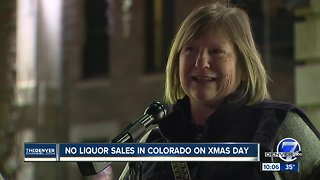 Colorado doesn't allow liquor store sales on Christmas. Should that change? - Video