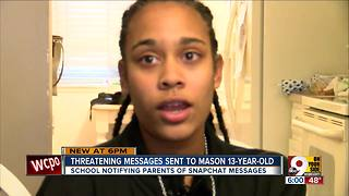 Threatening messages sent to Mason 13-year-old - Video