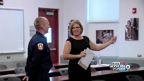 Tucson firefighter receives $5k thank you in national sweepstakes