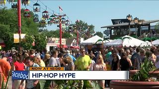 Biggest names in hip-hop draw tens of thousands to Summerfest - Video