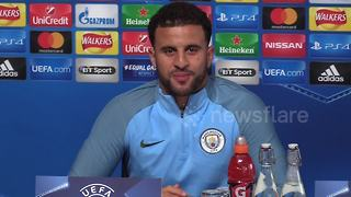 Walker 'loving' banter with Mendy - Video