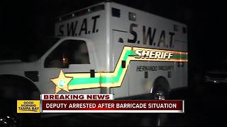 Detective arrested following 11+ hour standoff with SWAT in Brooksville - Video
