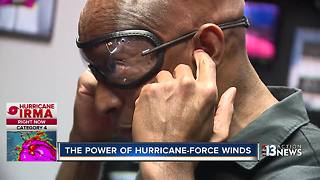 How it feels to stand in a hurricane - Video