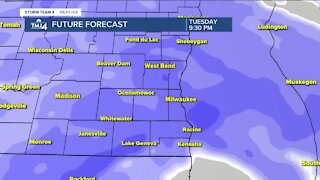 Winter storm moves in Tuesday evening
