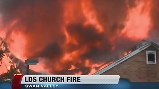 LDS church burns down in eastern Idaho - Video