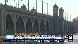 Study recommends $50M for Hanover Street Bridge repairs