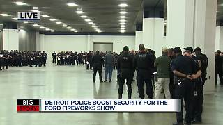 Police boosting security for annual Detroit fireworks - Video