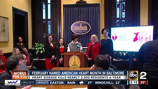 Mayor proclaims February American Heart Month in Baltimore - Video