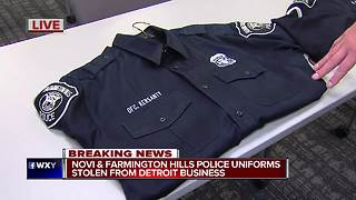 Police uniforms stolen from Detroit cleaner overnight - Video
