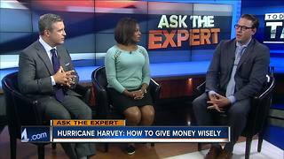 Ask the expert: Donating money to the victims of Hurricane Harvey - Video
