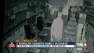 Burglar caught on camera breaking into East Naples business