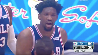 "Joel Embiid Tells the Nets ""They Can't F**king Guard Me!!"" - Video"