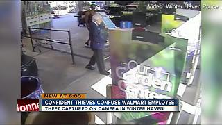 VIDEO: Couple steals a pool from Walmart in brazen theft caught on camera