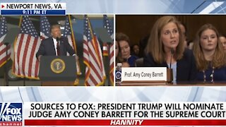 Hannity slams the left's attacks on Judge Amy Coney Barrett