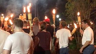 White Nationalists Stage Torchlit March in Charlottesville - Video