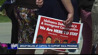 Advocates rally on Statehouse steps in support of DACA - Video