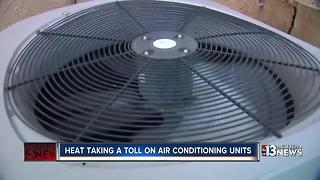 Heat takes toll on air conditioning units, technicians - Video