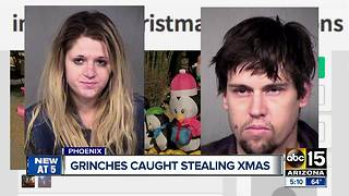 Suspects arrested for stealing Christmas decorations in north Phoenix - Video
