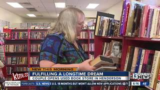 For the love of reading: Henderson couple opens bookstore - Video