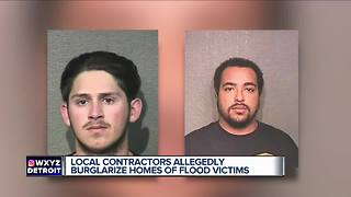 Metro Detroit contractors allegedly burglarized homes of Hurricane Harvey flooding victims - Video