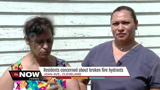 Cleveland residents concerned about broken fire hydrants - Video