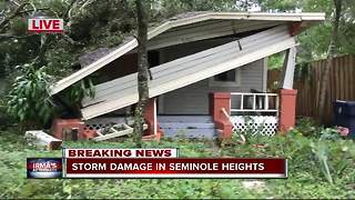 Storm damage in Seminole Heights