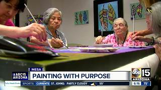 Senior living center raising money for charity using resident's artwork - Video