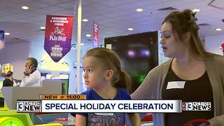 Shade Tree families party at Chuck E. Cheese's - Video