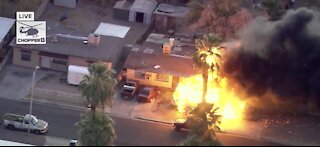 BREAKING: Crews arrived at massive house fire in Las Vegas