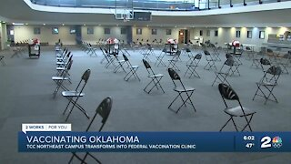 TCC northeast campus transforms into federal vaccination clinic