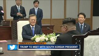 Trump meeting with South Korean counterpart - Video